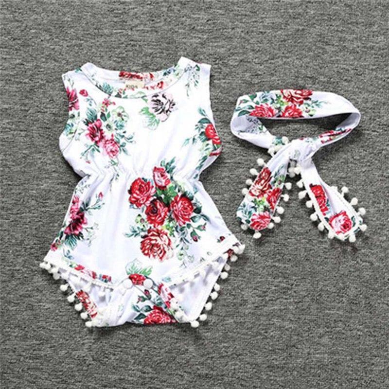 Baby Clothing Set Baby Girls Vintage Floral Romper Toddler Girl Rompers Onesie Baby Jumpsuit Toddler Girl Romper