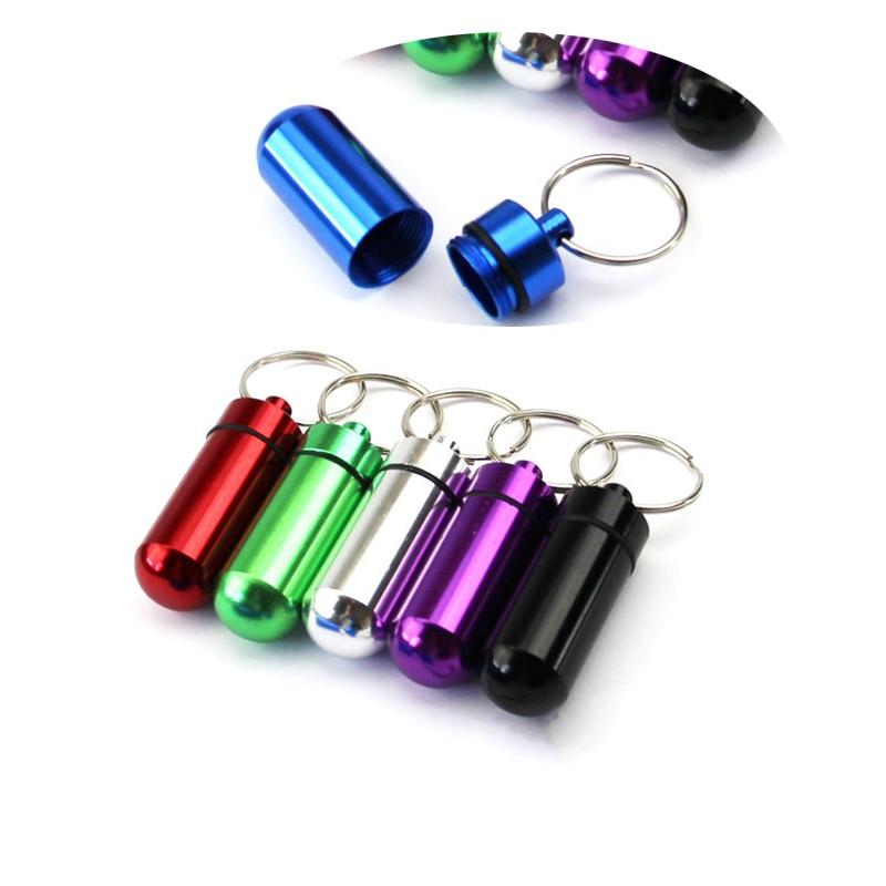6 шт., бутылочки для таблеток, мини алюминиевый брелок для планшета, ящик для хранения бутылок, держатель для бутылок, качественный портативный Водонепроницаемый сплиттер|Таблетницы и разделители|   | АлиЭкспресс