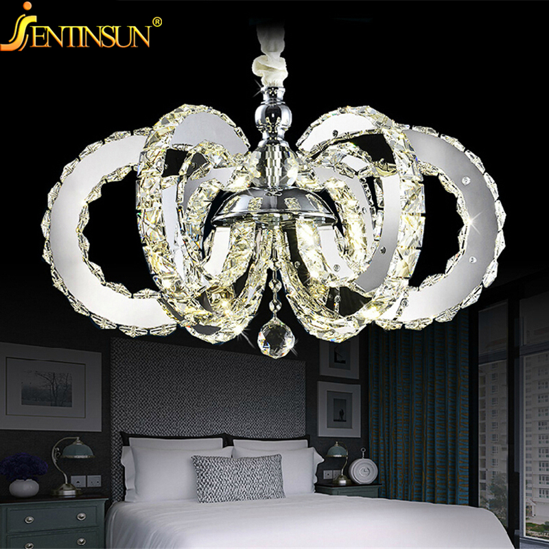 bedroom lighting lamps modern luxury led crystal chandelier bedroom