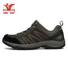 2017 xiangguan Hiking Shoes Man Waterproof Breathable Gray Mountain Climbing Outdoor Shoes Nylon leather Trekking Sneakers 36-45