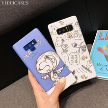 YHBBCASES Cute Pet Dog Soft Cases For Samsung Note 8 9 Cartoon Phone Cover Galaxy S10 S8 S9 Plus Funny Peanuts Case