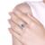 2.57ct Azul Topza Caimao Joyería 14 K Anillo de Oro Blanco y Diamante Anillo de Compromiso