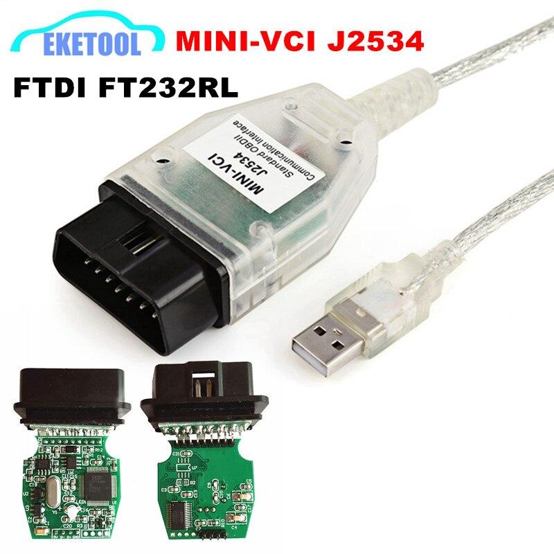 Recentes V13.00.022 J2534 FT232RL MINI VCI Para Toyota Auto Code Reader MINI-VCI TIS Techstream Único Cabo