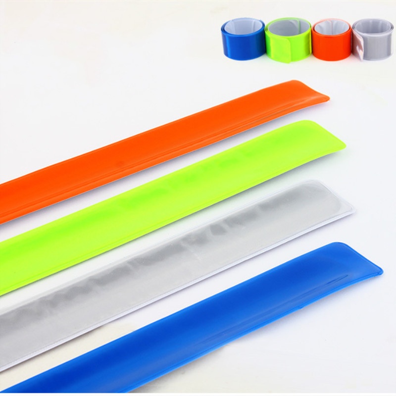 1PC 40cm Running Climbing Cycling Reflective Strips Warning Bike Safety Bicycle Bind Pants Leg Strap Reflective Tape Material