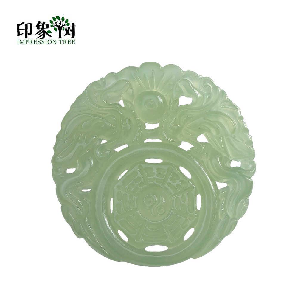 Chinesischen Traditionellen Runde Form J-ade Halskette Anhänger Hohl Natürliche Stein Anhänger Perlen Für DIY Schmuck Machen Halskette