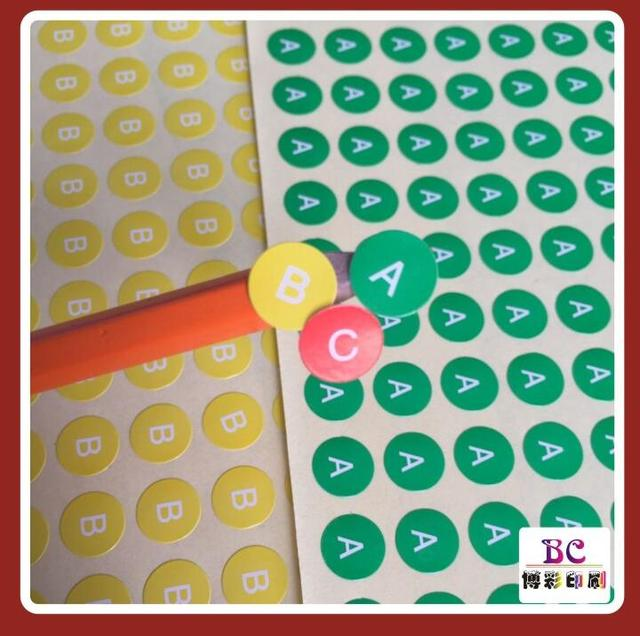 Stock printed white alphabet a c label stickersnumber tagsgarment size label round paper