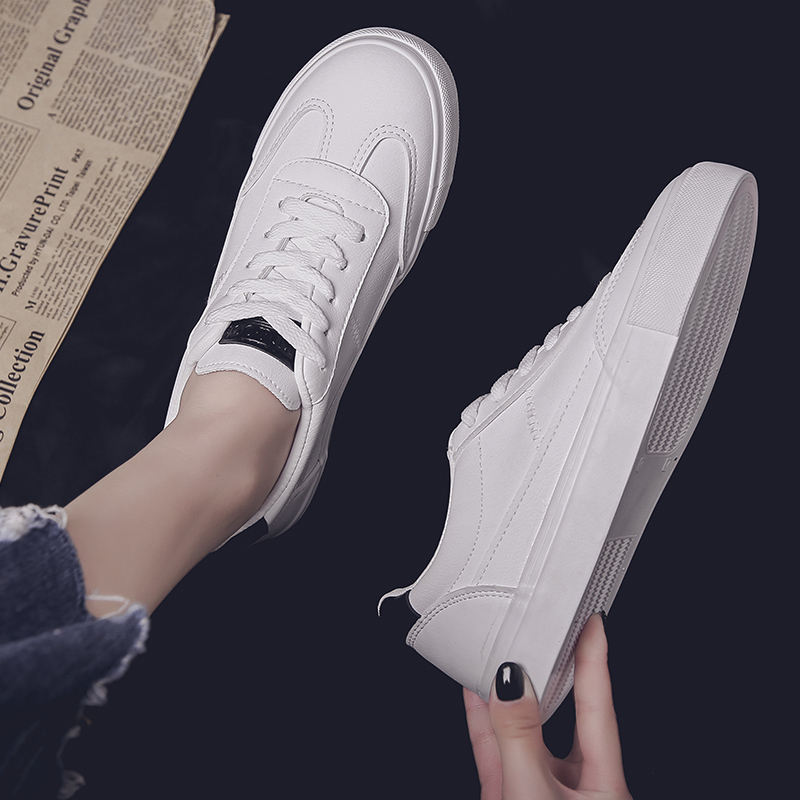 2019 Women Casual Shoes Spring Women Flats Fashion Breathable Leather Vulcanized Shoes White Lace-Up Summer Women Sneakers2019 Women Casual Shoes Spring Women Flats Fashion Breathable Leather Vulcanized Shoes White Lace-Up Summer Women Sneakers