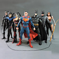 "7Pcs/Set DC Superheros Robin Batgirl Batman Harley Quinn Wonder Woman Superman PVC Hobbies Dolls PVC Action Figure Toys 7"" 18CM"