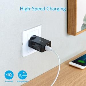 Image 2 - Anker 24 واط 2 Port USB الجدار شاحن (الاتحاد الأوروبي/المملكة المتحدة التوصيل) وتكنولوجيا PowerIQ آيفون ، آي باد ، غالاكسي ، نيكزس ، HTC ، موتورولا ، LG الخ
