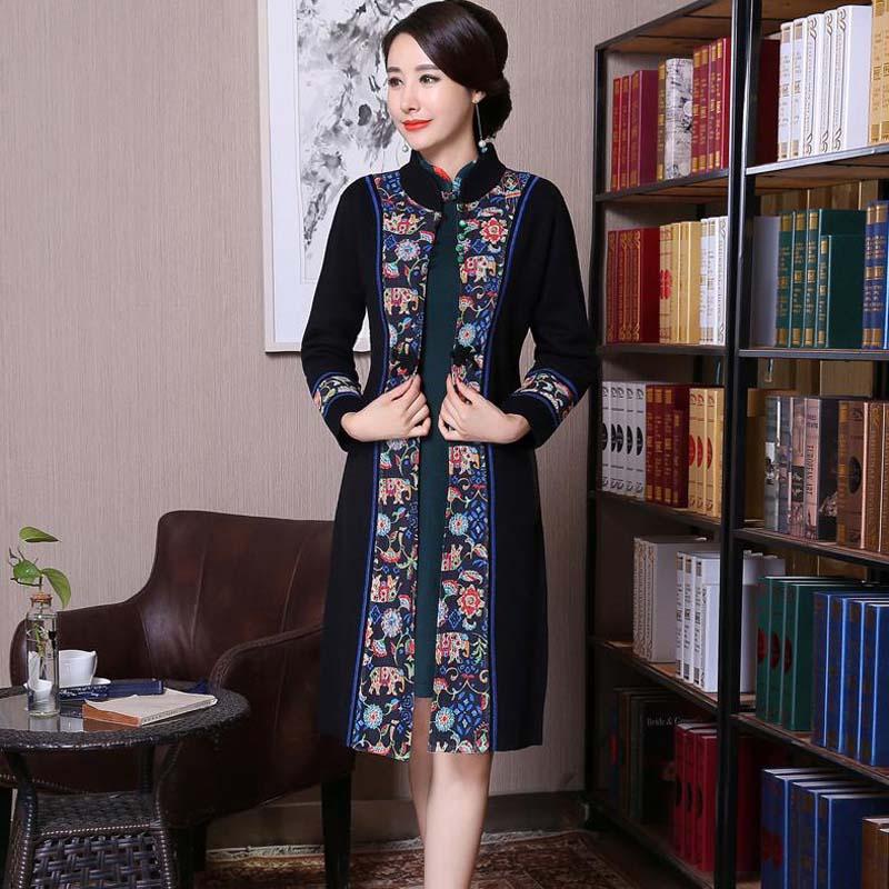 Laine Picture Arrivée Qualité Chaud Show Épais Vêtements as Vintage Nouvelle Show Robe Rouge Cardigan De Femmes Chinois Haute Fleur As GULqSMVjzp