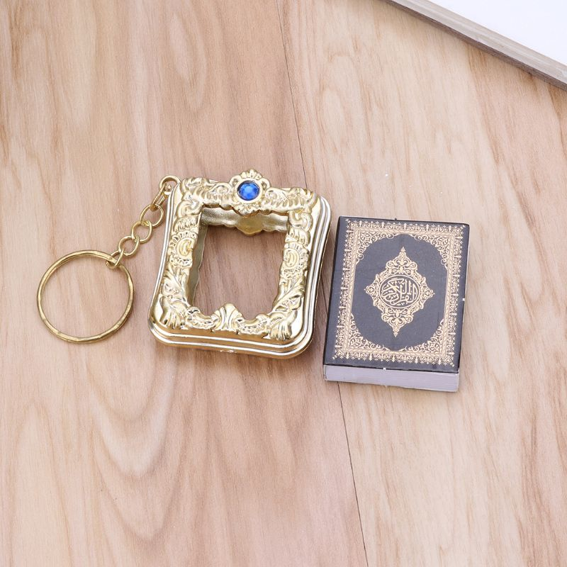 Image 2 - MenMini Ark Quran Book Real Paper Can Read Arabic The Koran Keychain Muslim Jewelry Gift SouvenirsKey Chains