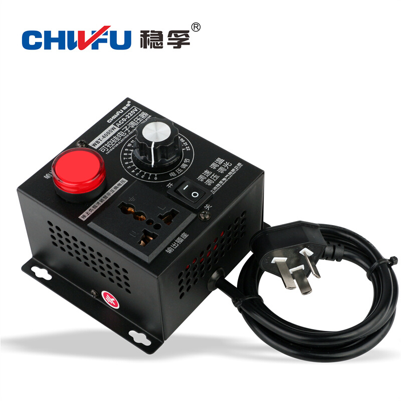 US $28 0 |4000W thyristor high power electronic pressure regulator fan  electric drill motor speed control transmission thermostat 220V-in Level