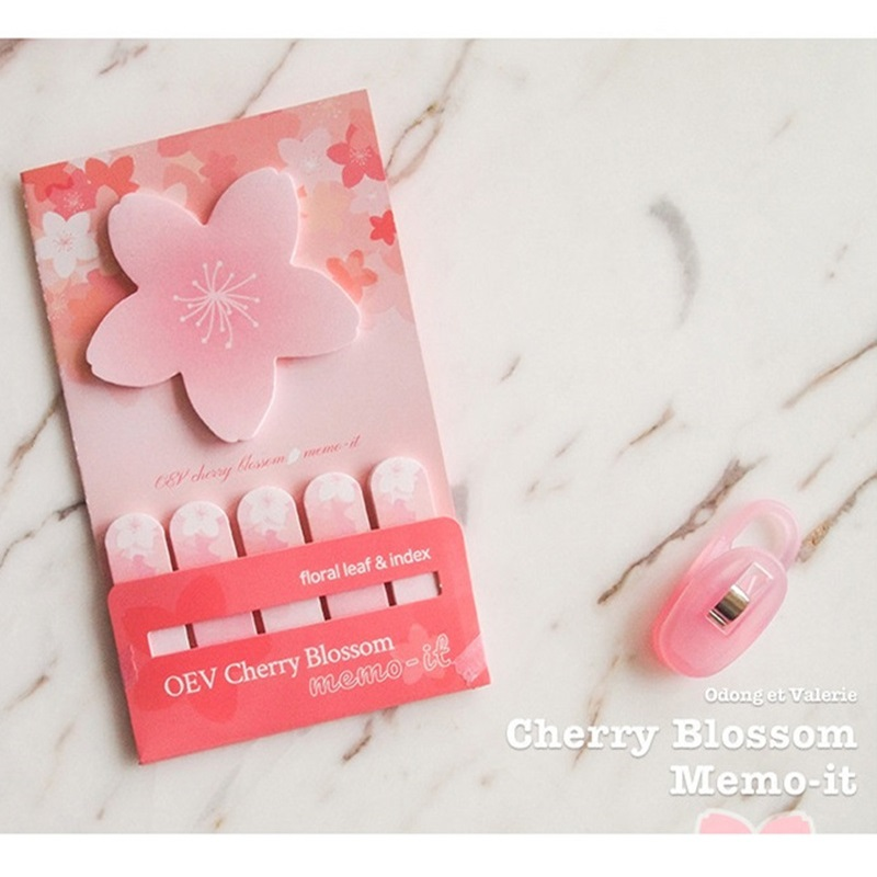 3pcs Cherry Blossom Flower Sticky Note Mini Post Tag Memo It Stickers Planner Marker Teacher Gift Stationery Office School A6605