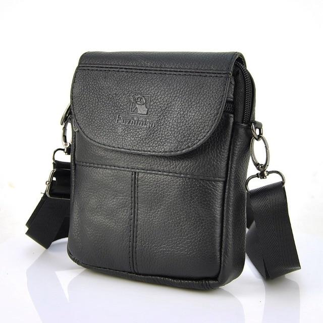 ffc767d11027 Men Genuine Real Leather Small Shoulder Bag Women Flap Cross Body Handbag  Classic Casual Purse Practical Pouch Messenger Bags