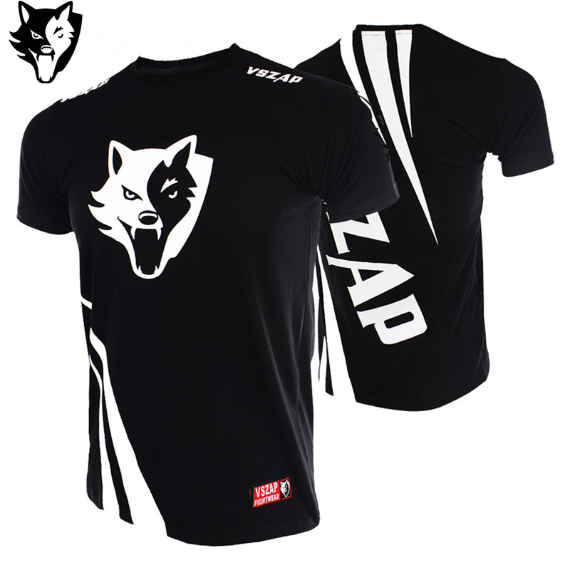 VSZAP CHALLENGER Fighting Ninja Loose MMA Fight Short Sleeved T-shirt Japan Leisure Fitness Brand Sports Training Thai Boxing