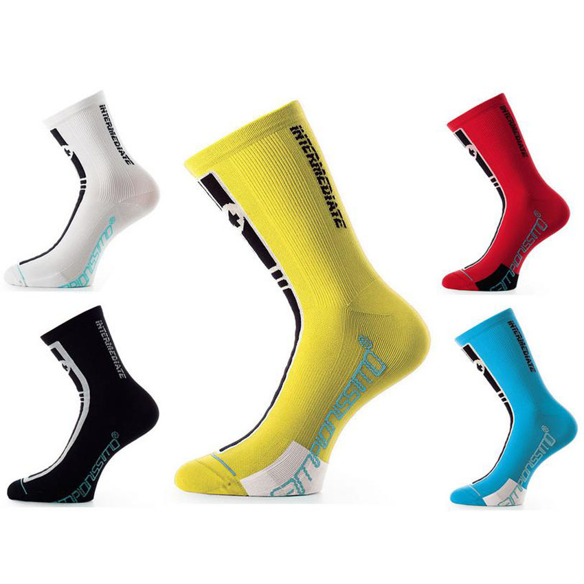 Coolmax Bicycle Socks Bike Cycling Calf Sports Socks Footwear Quarter Crew Socks One Size ombre circle calf length socks