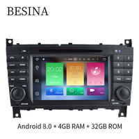 Android 8 0 Two Din 7 Inch Car DVD Player For Mercedes Benz W203 A180 Viano