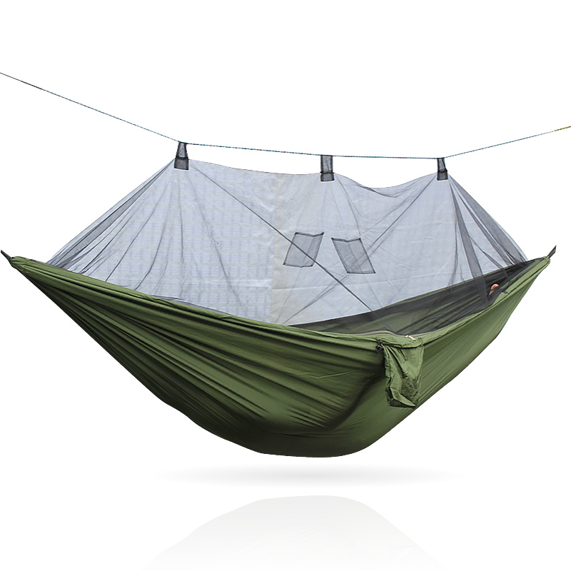 outdoor parachute hammock mosquito camping hammock lazybedoutdoor parachute hammock mosquito camping hammock lazybed