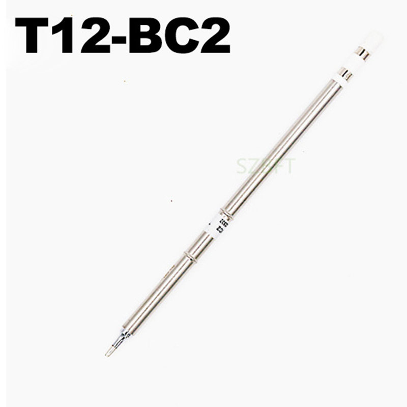 Soldering Iron Tips T12-BC2 B B2 BC1 BC2 BC3 B4 BCF1 ect series for Hakko Soldering Rework Station FX-951 FX-952 feita 5pcs lot you choose 5 type t12 soldering iron tips t15 model for hakko fx951solder station head diy repair phone welding