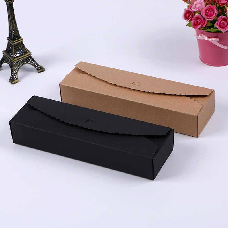 50p/lot Kraft craft paper jewelry box small gift box biscuit handmade soap wedding banquet Candy Bag Chocolate Box