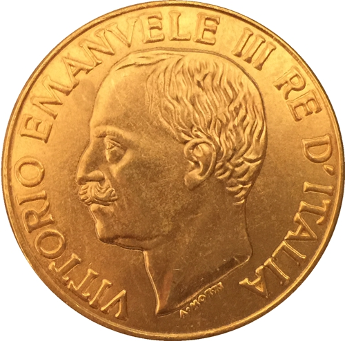 24-K Gold plated 1923 Italy 100 Lire coins copy