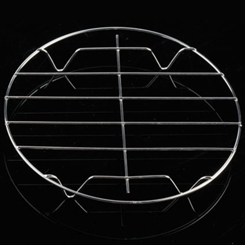 1  Stainless Steel Kitchen Tool Accessories Microwave Rice Cooker Butterfly Steamer Steaming Grid Rack Trivet With Handles