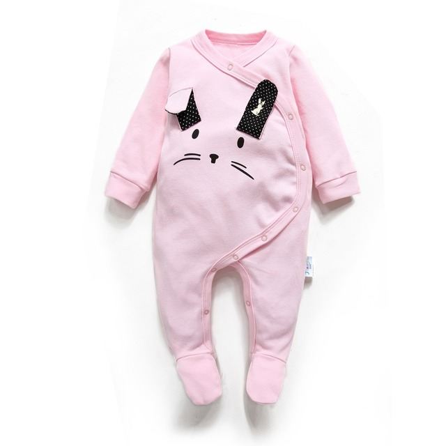 7f10b3ef5e36 spring newborn baby boy clothes girls winter rompers for girls long ...