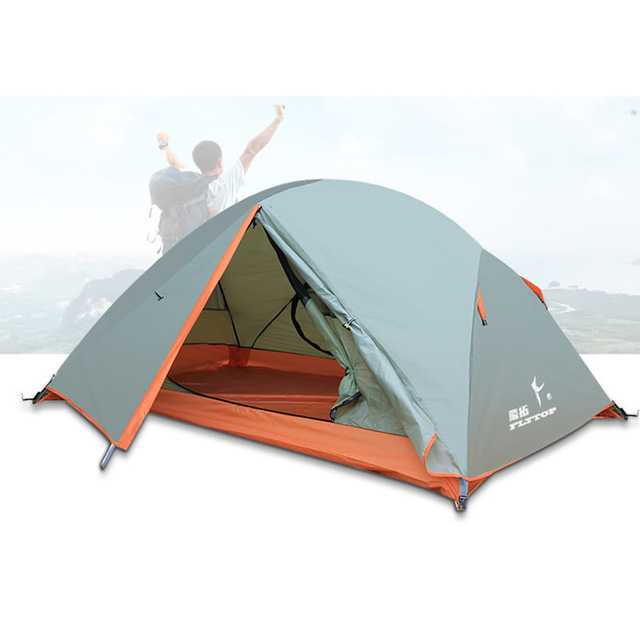 2 Persons Double Tent Ultralight Wind-proof Rainproof 2 Doors Outdoor Camping Hiking Tent Large Space