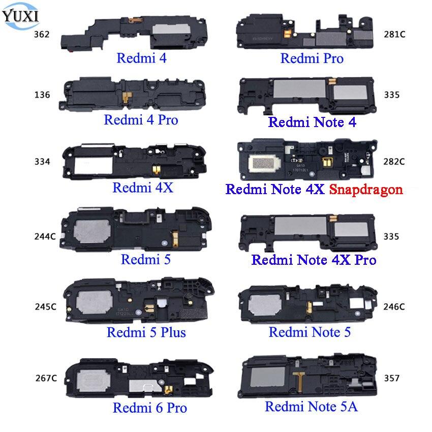 YuXi 1pcs Loudspeaker Loud Speaker For Xiaomi Redmi 4 6 Pro 4X 5 Plus Note 4 4X Note 5 5A Buzzer Ringer Board Replacement Parts