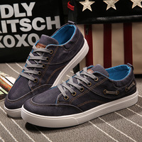 Men Casual Shoes 2016 New Arrivals Fashion Denim Canvas Flat Man Shoes