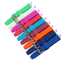 High quality 18MM rubber watch strap Green color Watch band women and men watch strap Free