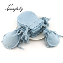 7x9 9x12cm  Gourd shaped Velvet Jewelry Packaging Pouches Bags Drawstring Gift Bag for Necklace Wedding Favors