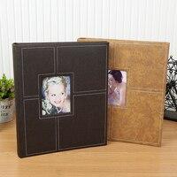 PU Leather Vintage DIY Photo Album Lovers Wedding Anniversary Gift Photo Baby Photo Albums Ablum Scrapbook Sticky Paper Crafts
