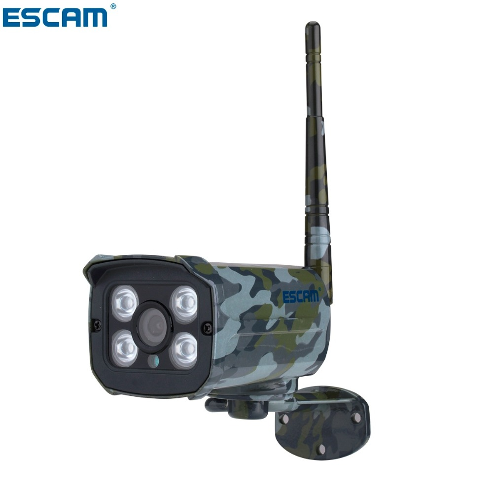 ESCAM Sentry QD900S 2MP full HD Network IR-Bullet Camera Day/Night IP66 onvif 2.2 1080p Camouflage Wireless Waterproof IP Camera escam qd900 wifi ip camera 2mp full hd 1080p network infrared bullet ip66 onvif outdoor waterproof wireless cctv camera