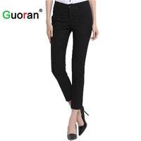 Guoran Ankle Length Summer Cool Women Pencil Pants 5 Colors Plus Size Ladies Office Work