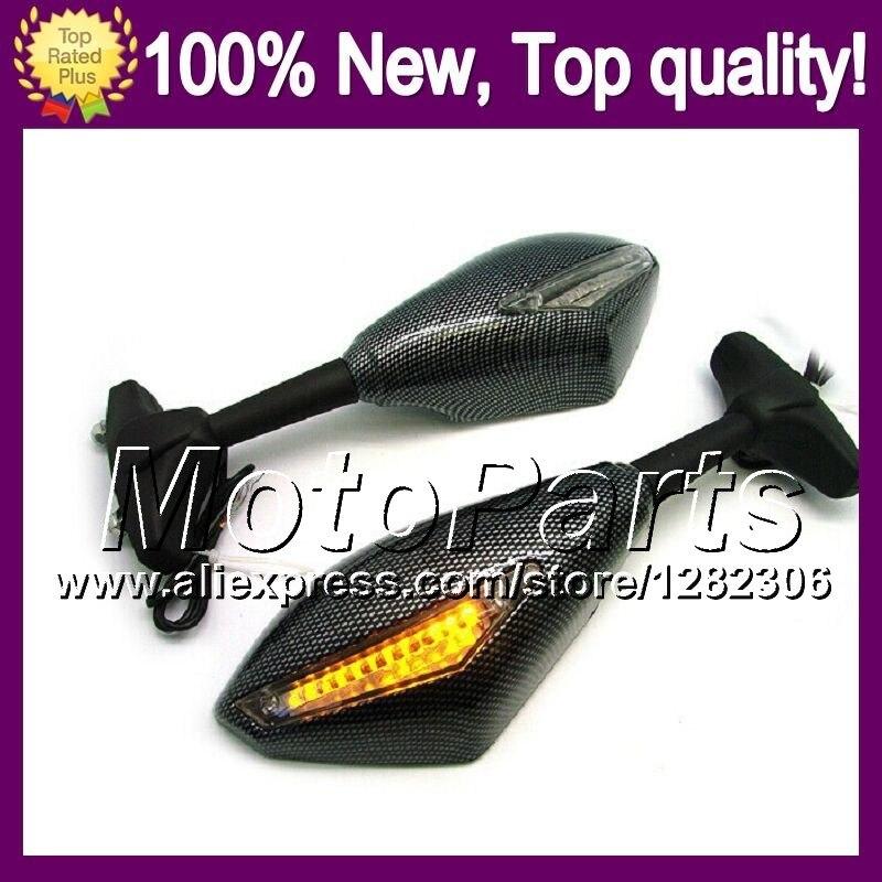 2X Carbon Turn Signal Mirrors For SUZUKI KATANA GSXF650 08 13 GSXF 650 GSX650F GSX 650F