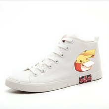 Pikachu Cartoon pattern Jingle cat Superman High Heel Canvas Uppers Sneakers College Personalise Fashion Casual