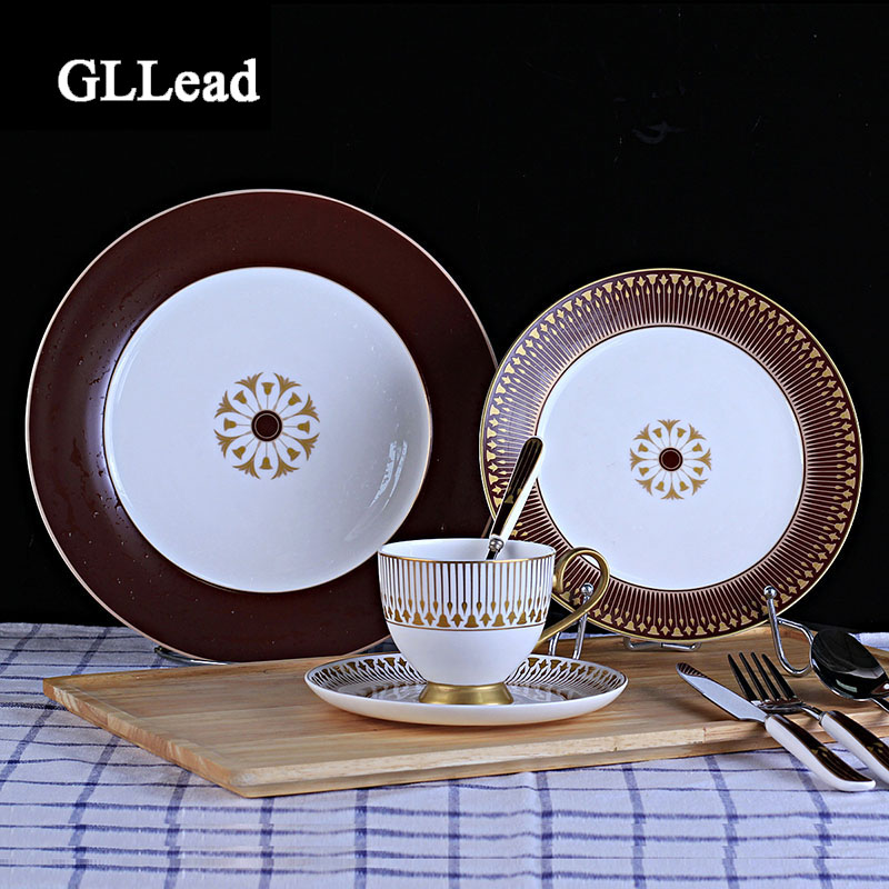 Hotel Collection Plates: GLLead High Quality European Bone China Tableware Dinner