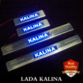 LADA KALINA LED stainless Stee Door Sills Scuff Plate fit for KALINA 2010-2015 hatchback and sedan dual tone door sills Blue