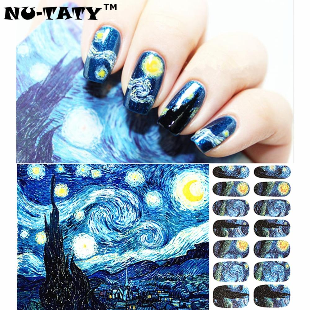 Nu Taty Nail Art Van Gogh Starry Night Romantic Sticker High En71