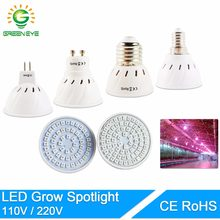 Led grow Light E27 E14 MR16 GU10 110V 220V led lamp plant grow light Full Spectrum Plant Lamp For Plants Hydroponic System(China)