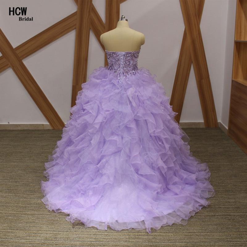 Lavendel pluss suuruses Quinceanera kleit, pitsiga kaelakristallid, - Eriürituste kleidid - Foto 3