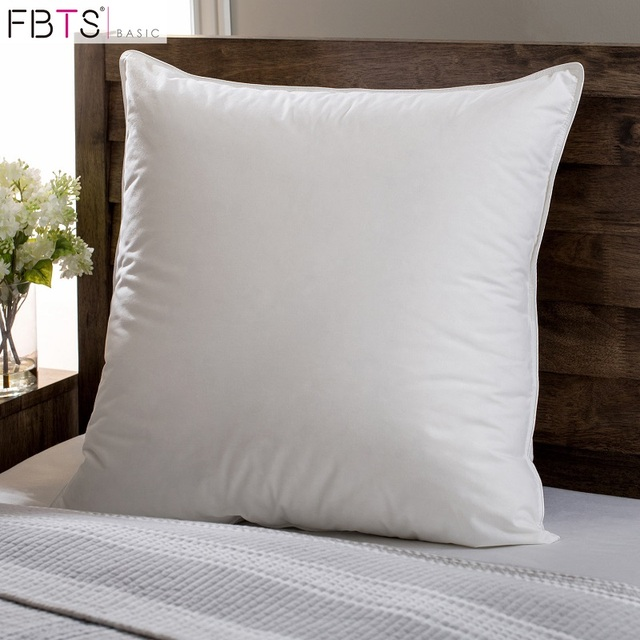 Feather Down Pillow Insert 20 X20Inches Square Sham Stuffer Premium Hypoallergenic Decorative Cushion Sofa And Bed