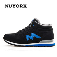 NUYORK fashion wear plus Cashmere warm men insole for outdoor climbing boy winter Casual Short boots couples fitne shoes M