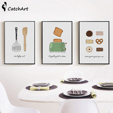 simple nordic style abstract posters hand made cooking wonder machine pictures kitchen restaurant wall home decor