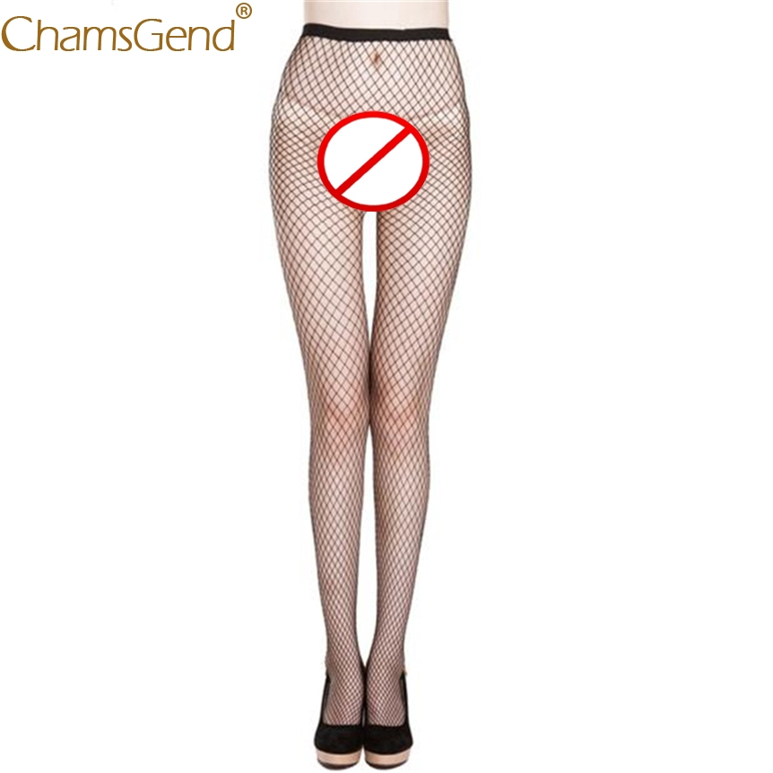 Chamsgend Tights Women Sexy Lace Thigh Elastic Pantyhose Fishnet Mesh Tights 80131