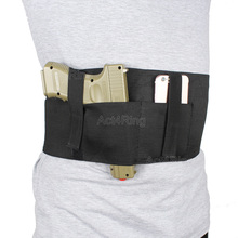 Versatile Belly Band Holster Concealed Carry with Magazine Pouch & 2 Elastic Straps Fits Glock,Sig Sauer