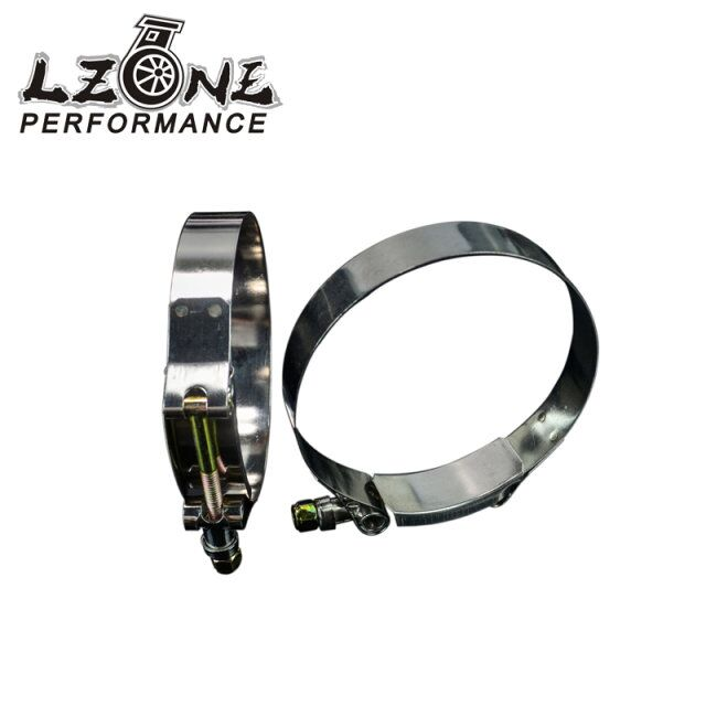 LZONE RACING - (2PC/LOT) 3.5 CLAMPS (92-100)STAINLESS SILICONE TURBO HOSE COUPLER T BOLT CLAMP KIT HIGH QUALITY JR5256