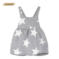 INS Hot Sale 2016 Next Summer Style Baby Girl Dress Striped Stars Backless Strap Dress Toddler