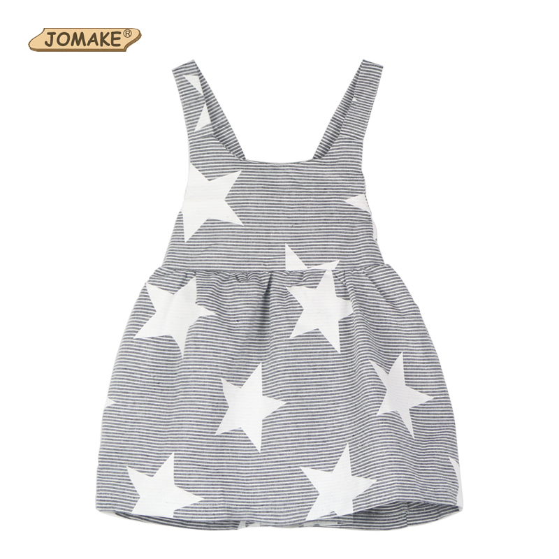 INS Hot Sale 2017 Summer Style Baby Girl Dress Striped Star Backless Strap Dress Toddler Kids Dresses for Girls Clothes Clothing 2017 flower girl dress casual daily style kids dress for girls spring baby girl clothes children brand clothing fashion hot sale